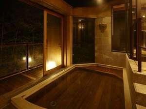 貴賓室 「千条」源泉かけ流しの露天風呂・檜風呂付和洋室 (123平米)