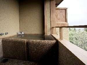 本館「大湧」源泉かけ流しの半露天風呂付和洋室 (49.31平米)