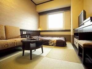 【禁煙】「和」セミダブル◆160cm幅ベッド1台…16㎡