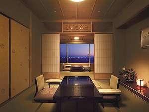 【温泉露天風呂付】オーシャンビュー/和室10畳+7.4畳/喫煙