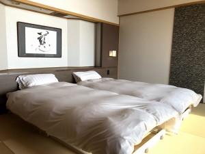 【葵館】白良浜ビュー和室ツインベッド+次の間