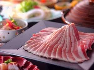 【ど~んメガ盛り!】◆『能登豚&黒豚』ブランド豚の食べ比べ◆しゃぶしゃぶ会席&金箔海鮮丼