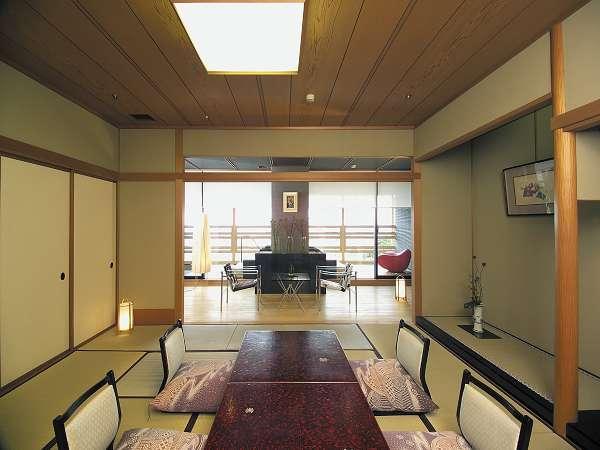 ◆源泉100%【露天風呂付き客室】リビング付き特別室/お部屋食