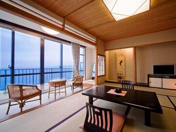 高層階客室(和室10畳)<絶景海側・お食事処>