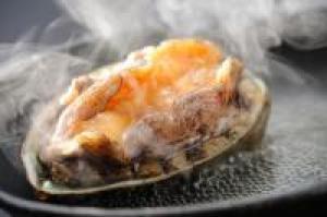 【鮑の踊り焼プラン】◇新鮮アワビを丸ごと1個 蒸し焼きにてご賞味ください◇