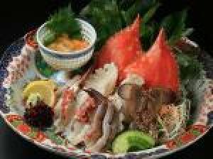 【カニ三昧!豪華】カニ刺し+焼カニ+茹でカニ