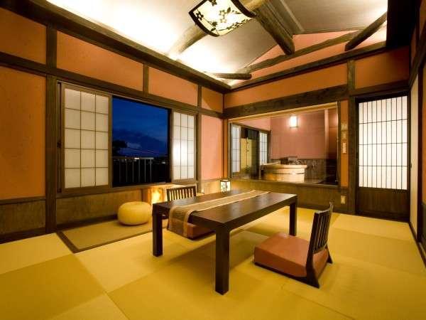 優しい桜色~露天風呂付客室「桜桃」