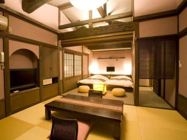 和モダン薫る~和ベッド客室「菖蒲」~貸切露天風呂無料