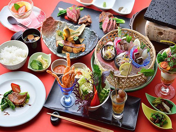 【美食グレードUP】『華』プラン/旬の上州産食材と洋風創作料理が彩る