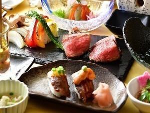 【宿おすすめ】『凪』プラン/溶岩プレートで食す上州和牛炙りと握りを満喫