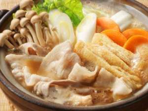 【2食付】2種類の出汁で《豚鍋》♪人気の《籠盛り和朝食》プラン(チェックアウト11:00)