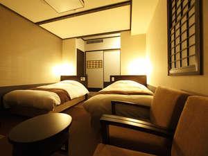 和風ツイン◆100㎝幅ベッドもしくはマットレス2台(2名定員)…21㎡