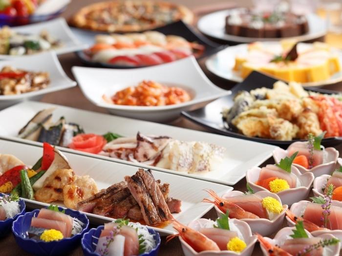 【ブッフェ】大人気の石窯グリル!和洋中鮨スイーツ、ライブクッキングで出来たて♪<一泊二食>