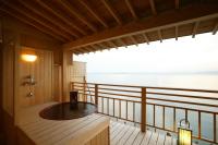◇利久・露天風呂付客室◇風光明媚な七尾西湾を望む露付客室
