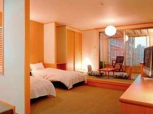【日本庭園を望む】 露天風呂付き和洋室(和室4.5畳+洋室ツイン)