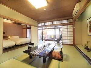 喫煙|夢しずく亭*露天風呂付*和室10畳+ベットルーム※2階/階段利用