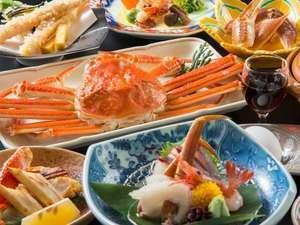 【旬ダイニング・千の幸】姿・焼き・刺し・天婦羅・鍋の蟹5品♪蟹づくし会席(蟹を心ゆくまで)