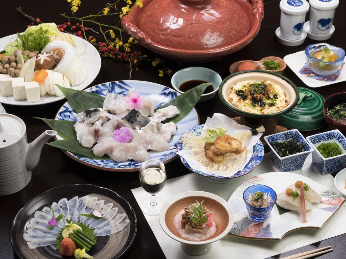 【至福の極みプラン】超特選!淡路島3年とらふぐ会席コース★お部屋食