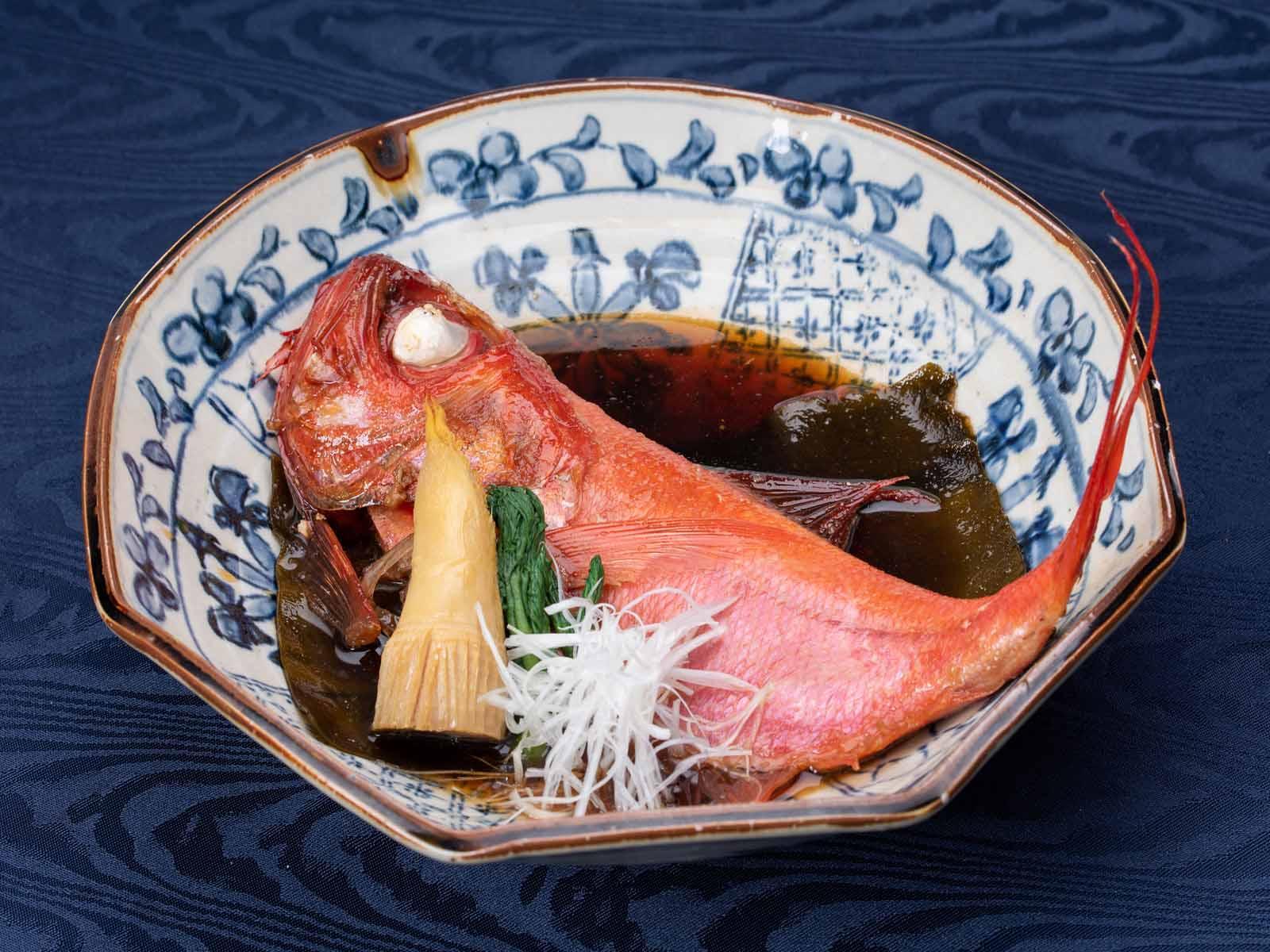 """""""地金目鯛の姿煮""""×自慢の和会席~伊豆の海鮮を堪能!"""