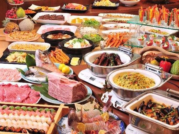 和牛食べ放題!夕食60種+朝食50種♪【1泊2食】