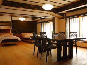 【檜温泉風呂】12畳リビング+和9畳+ツインベット