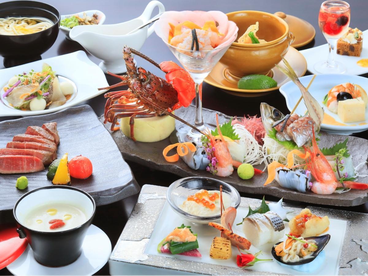 【最上級会席】料理長厳選のお肉と海鮮で贅沢に愉しむ箱根旅<最上級会席■月の煌>