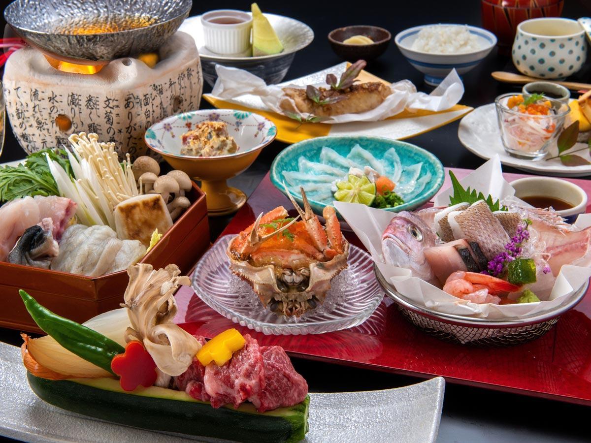 【お料理重視の方へ♪当館人気No1】豪快な姿造りとA4村上牛蒸ししゃぶに日本海のどぐろも堪能■逸品