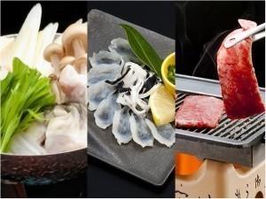 【♪贅沢ふぐ会席♪】<黒毛和牛×ふく料理3品>欲張りグルメと絶景温泉で美萩旅を満喫しよう!