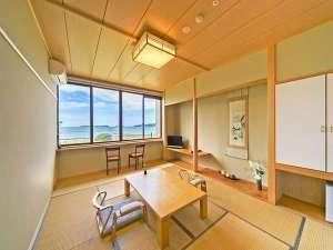 【日本海一望】移り変わる菊ヶ浜の景色に癒されて♪和室10~12帖