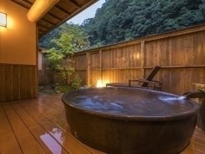 【ベーシック】ダブル美肌の湯を存分楽しめる露天付き離れで至福のひとときを(1泊2食付)